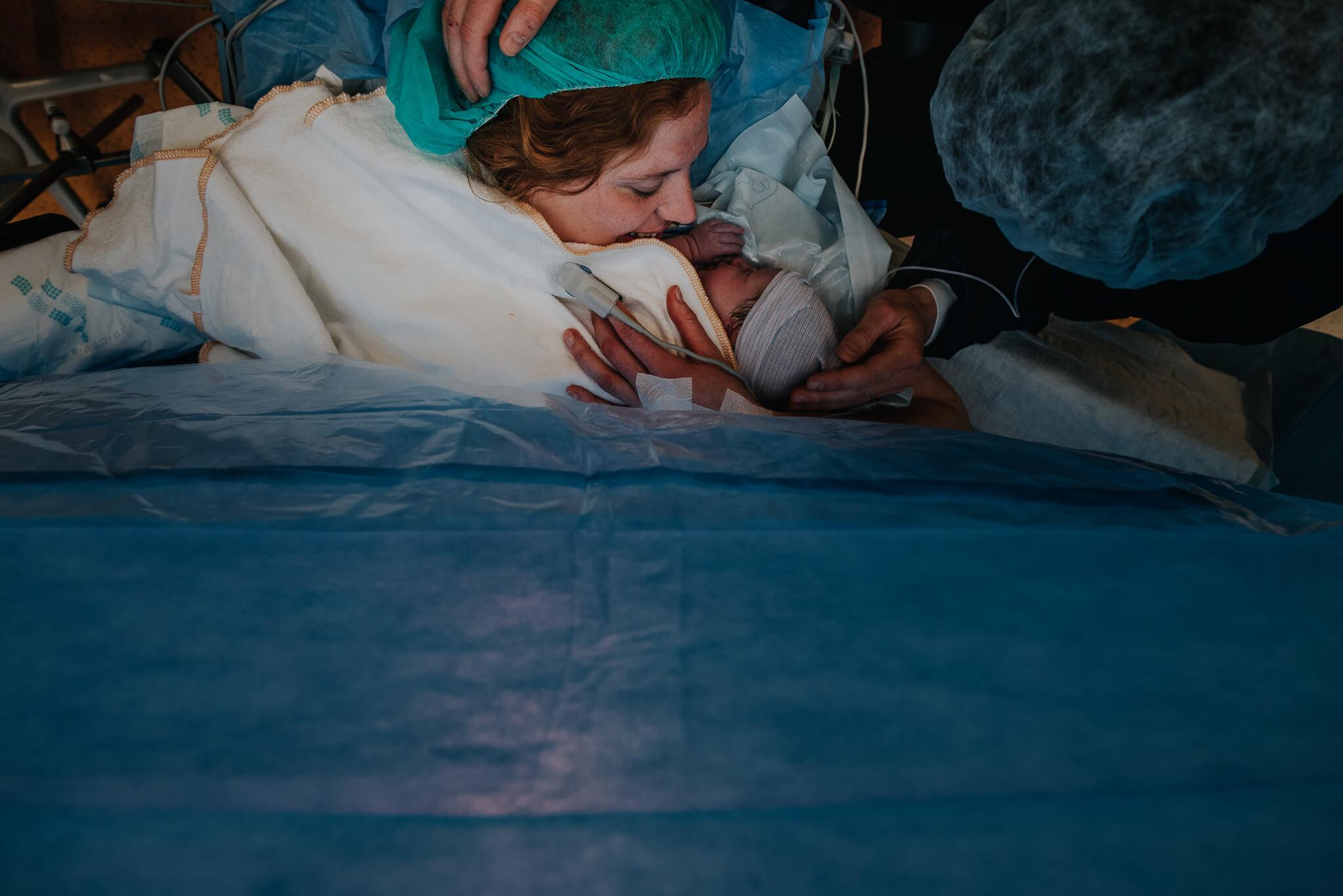 Geboortefotografie Den Bosch JBZ keizersnede Birth Day geboortefotografie